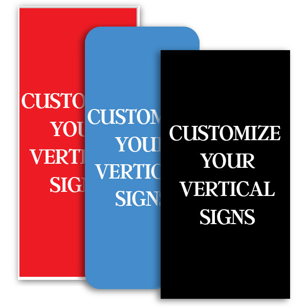 Vertical Engraved Plastic Signs