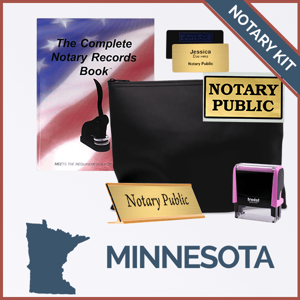 Minnesota Pink Deluxe Notary Kit