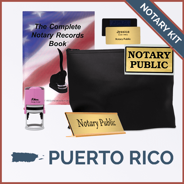 Puerto Rico Pink Deluxe Notary Kit