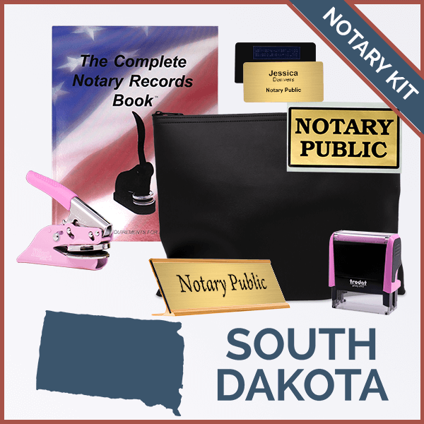 South Dakota Pink Deluxe Notary Kit