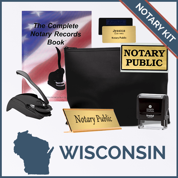 Wisconsin Deluxe Notary Kit