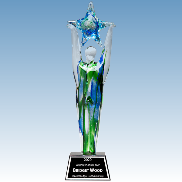 Donor Recognition Star Achiever Art Glass Award