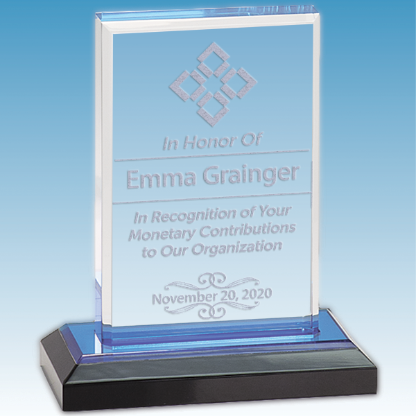 Donor Recognition Straight Bevel Acrylic Award
