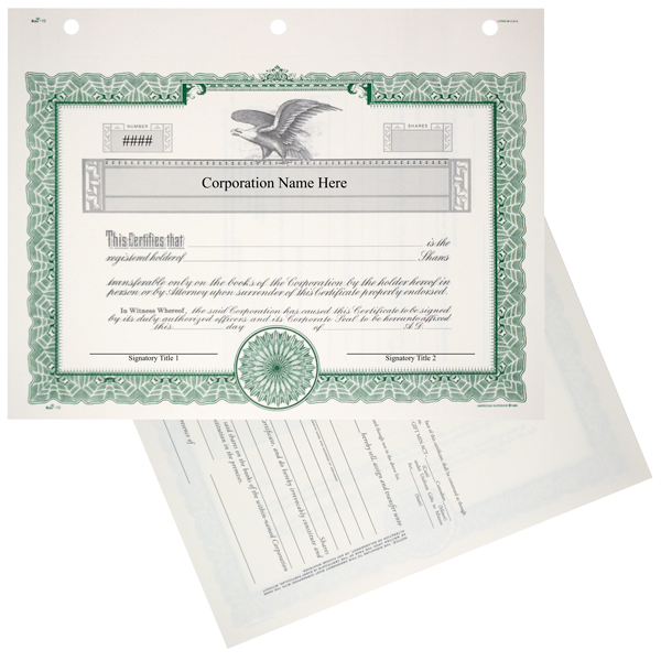 Duke 10 Stock Certificates - Printed Set of 20