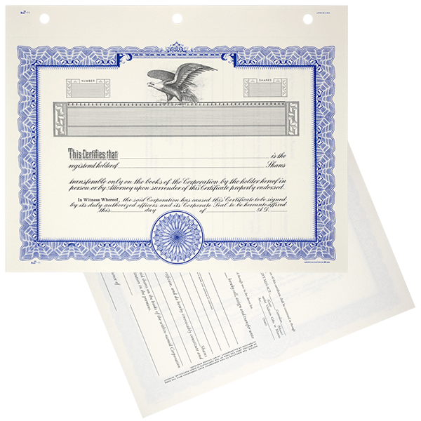 Corporate Stock Certificates TCC11 Blank Set of 20