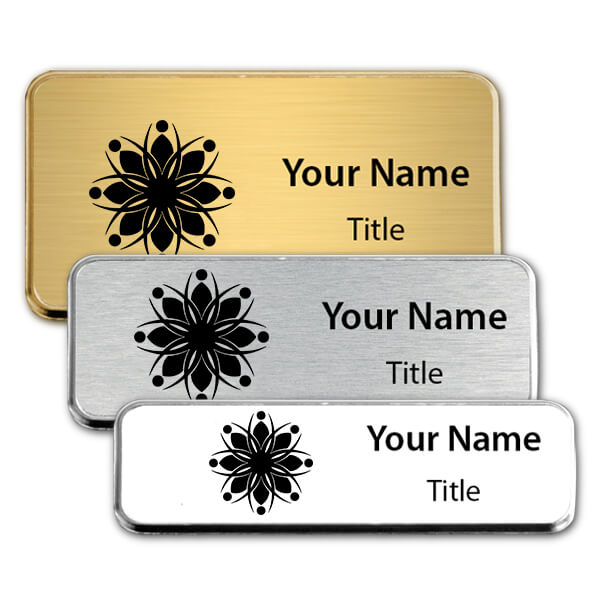 Engraved Executive Badges with Rounded Corners