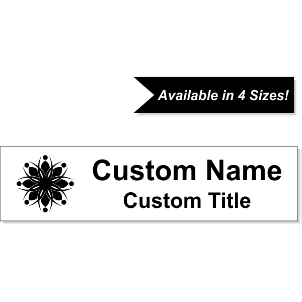 Insert Only for Traditional Alum Nameplate Holders - Engraved