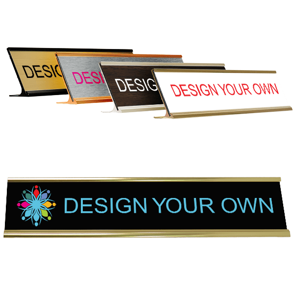 Full Color Deskplate with holder (Traditional Aluminum)