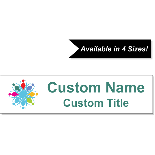 Insert Only for Traditional Alum Nameplate Holders - Full Color