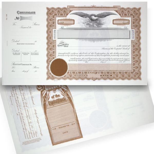 GOES 195 Corporate Stock Certificate Blank Set of 20