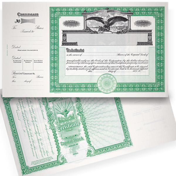 GOES 364 Corporate Stock Certificate Blank Set of 20