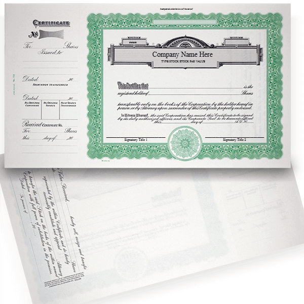 GOES 722 Corporate Stock Certificate Set of 20