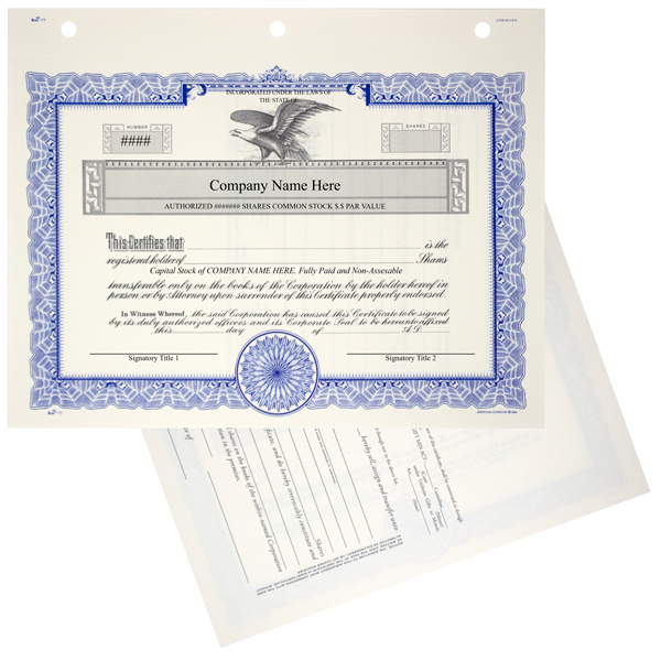 GOES KG3 Corporate Stock Certificate Printed Set of 20