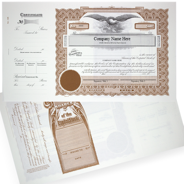 GOES 195 Corporate Stock Certificates | Quantity of 20 or More