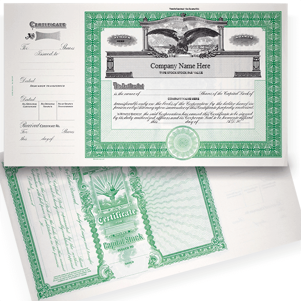 GOES 364 Capital Stock Certificates | Quantity of 20 or More