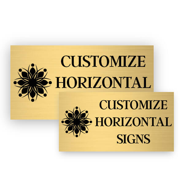 Horizontal Engraved Heavy Brass Signs