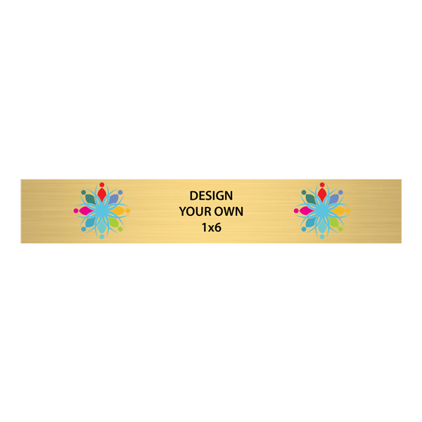 Horizontal Full Color Brass Signs 1