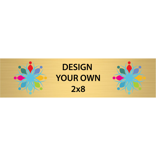 Horizontal Full Color Brass Signs 2