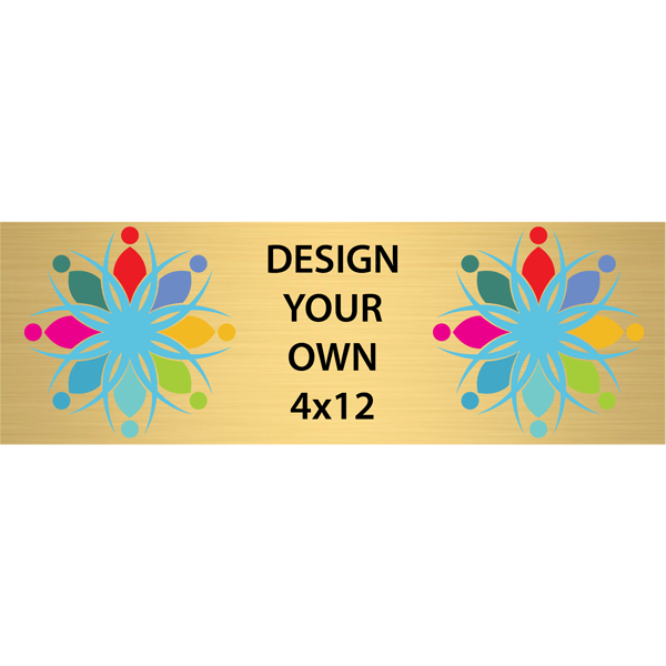 Horizontal Full Color Brass Signs 4