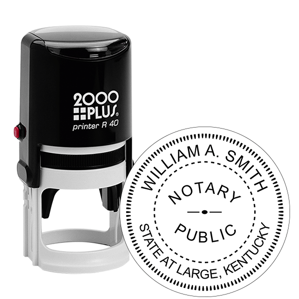 Kentucky Notary Round Stamp