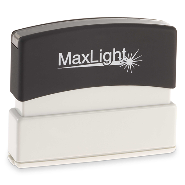 MaxLight Custom Pre-Inked Stamp - MAX-55Z - Black Ink