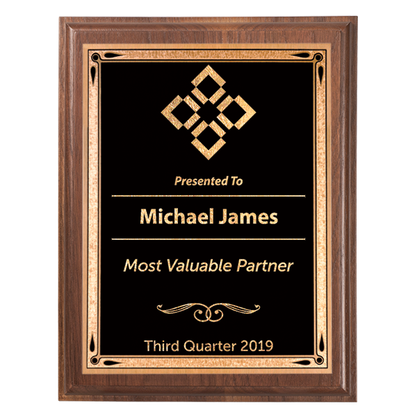 Most Valuable Person 5 x 7 Walnut Plaque