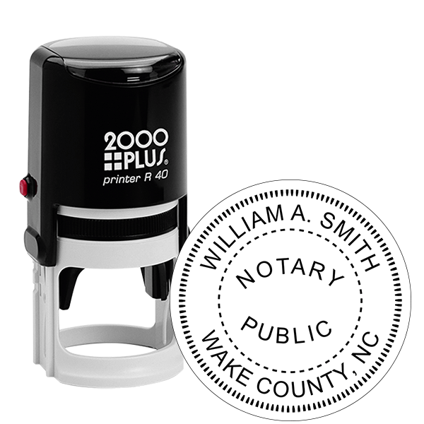 North Carolina Notary Round Stamp