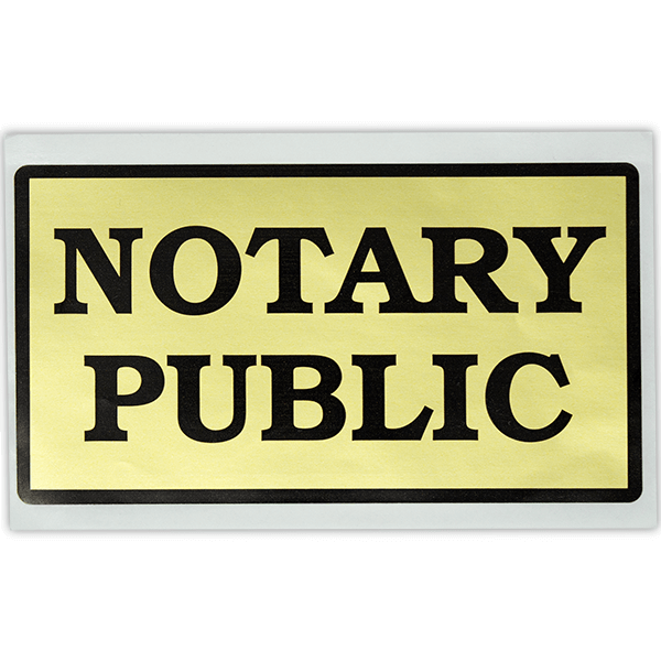 Notary Public Decal