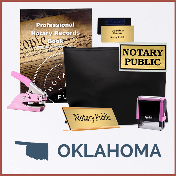 Oklahoma Pink Deluxe Notary Kit