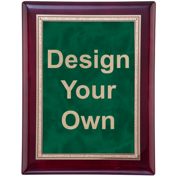 Rosewood and Emerald 9x12 Wall Plaque