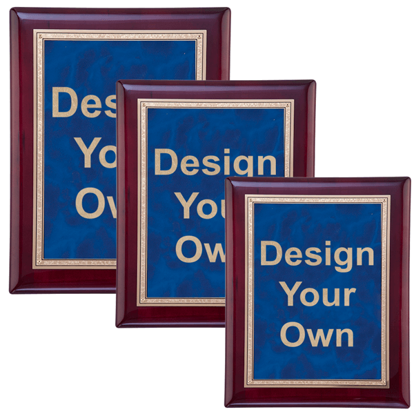Rosewood and Sapphire Wall Plaque - Multiple Sizes Available