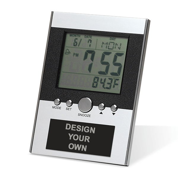 Small Desk Clock with Large Digital LCD screen | 3.75