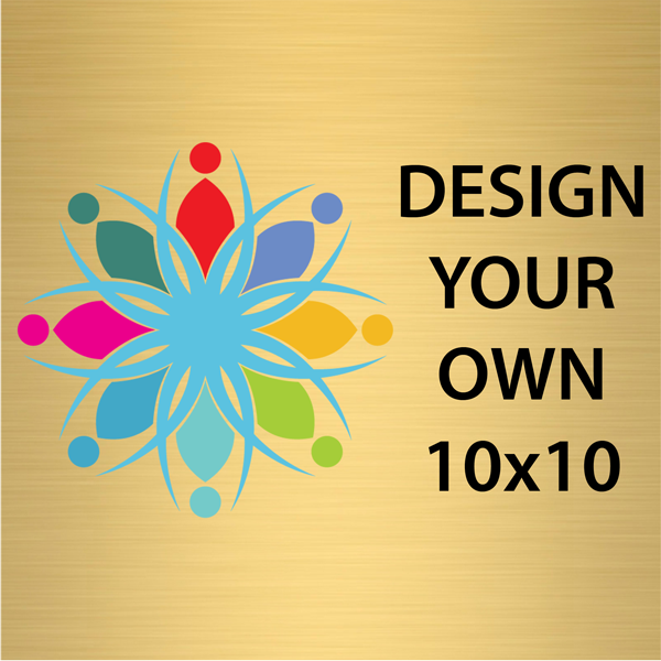 Square Full Color Brass Signs 10