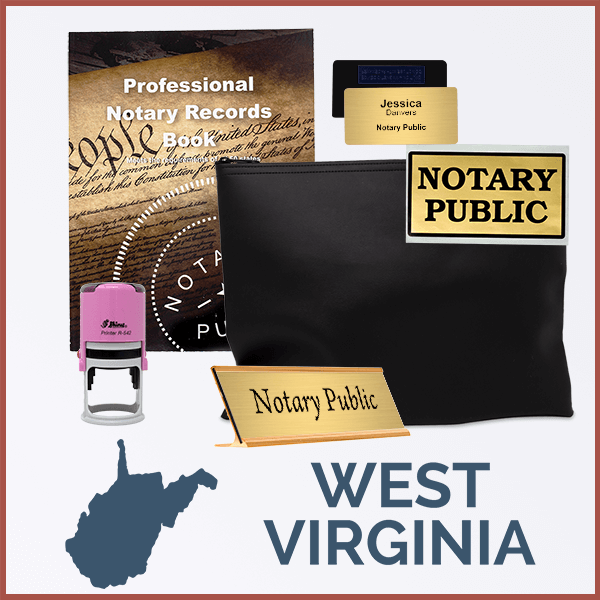 West Virginia Pink Deluxe Notary Kit