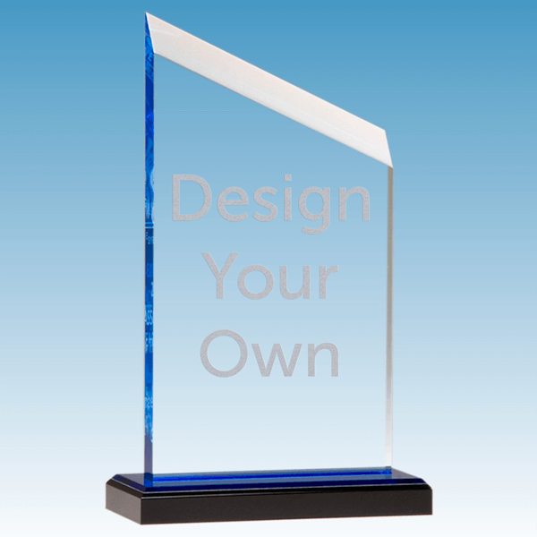 Zenith Series Acrylic Award w/ Blue Accents | 4.5