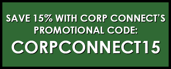 Save 15% with Promo Code corpconnect15